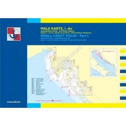 Námorné mapy  ,, Male Karte 1 DIO severná časť.