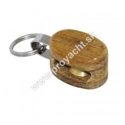 Teakový prívesok na kľúče