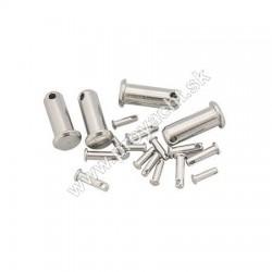Zaisťovacie kolíky - Ø 6 mm - nerez, bal.2ks