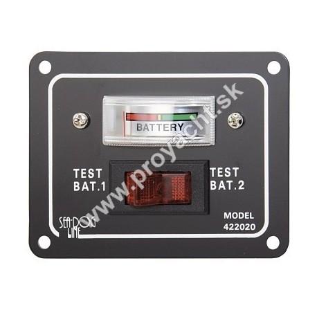 Panel s testerom na batérie - 12V