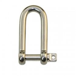 šekel - nerezové závesné oko 4mm až 9,5mm - priamy tvar- predĺžený  AISI 316L