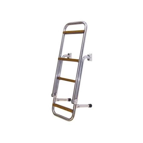 Rebrík – nerezový, skladací