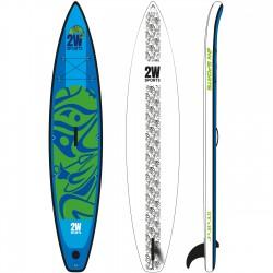 2W SUP paddleboard Touring 12´6 - nafukovací