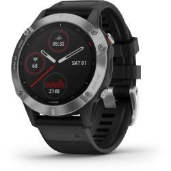 Multišportové hodinky - fénix 5 Silver, Black band - GARMIN