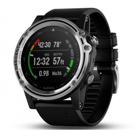 Potápačské hodinky - Descent™ Mk1 Sapphire, čierny remienok - GARMIN
