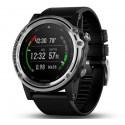 Potápačské hodinky - Descent™ Mk1 strieborný zafír s čiernym remienkom - GARMIN