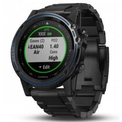 Potápačské hodinky - Descent™ Mk1 Sapphire šedé s DLC titánovým remienkom - GARMIN