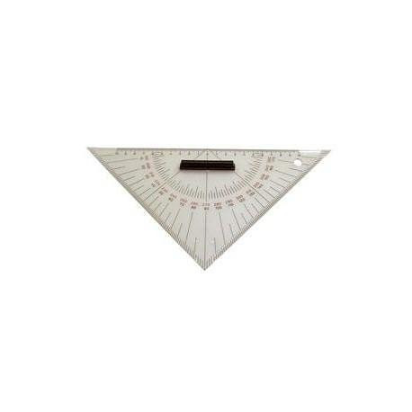 Trojúholníkové pravítko s rúčkou a otvorom úrčené pre prácu s mapami